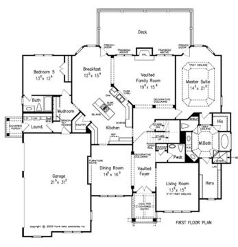 European transitional home plans floor plans for Transitional house plans