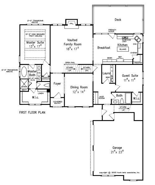 Craftsman Cottage Home Plans Floor Plans