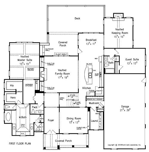 European transitional home plans floor plans for Flooring kennewick
