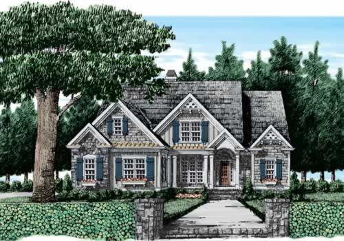 Craftsman cottage home plans floor plans for Riverfront home designs
